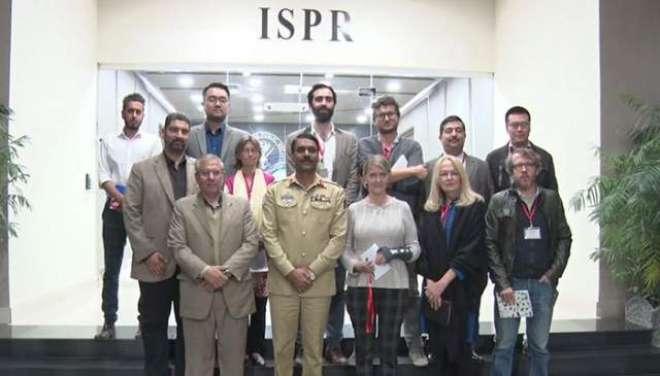 غیرملکی صحافی پاکستان کا مستحکم چہرہ اجاگرکریں، ترجمان پاک فوج