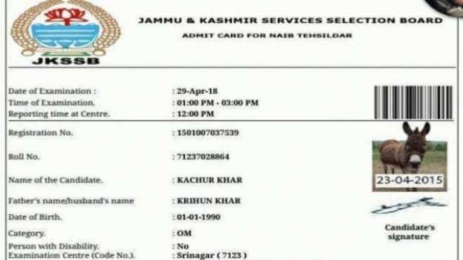 گدھا بھی نائب تحصیل دار کے امتحان میں شامل ہو گیا