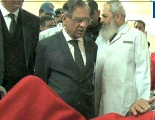 چیف جسٹس آف پاکستان جسٹس میاں ثاقب نثار کاجناح ہسپتال لاہور کا دورہ