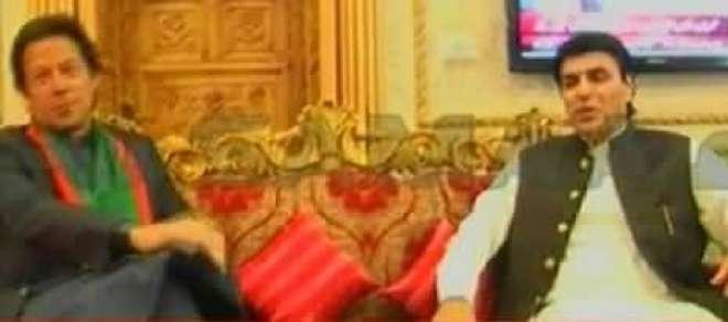 عمران خان سے بنی گالا میں اعجاز چوہدری کی ملاقات ،