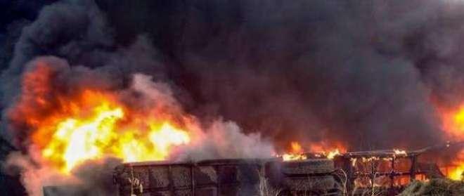 بس آگ کا گولہ بن گئی، 27مسافر زندہ جل گئے، 5مسافروں کو بچا لیا گیا