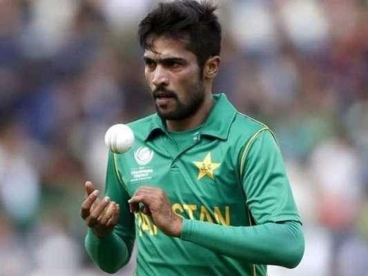 قومی ٹیم کے فاسٹ بولر محمد عامر کا اپنے ردھم کو بحال کرنے کے لیے فرسٹ ..