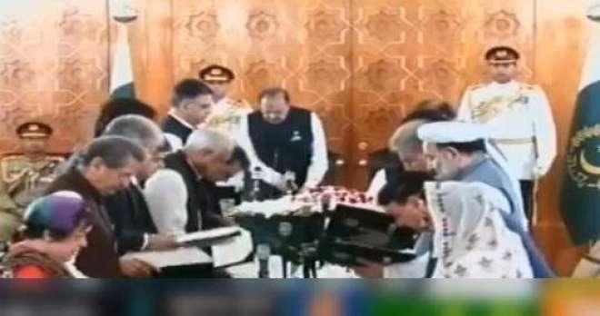 ایوان صدر میں وفاقی کابینہ کی تقریب حلف برداری