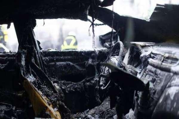 سعودی عرب میں شرپسندوں نے خاتون کی گاڑی کو آگ لگادی