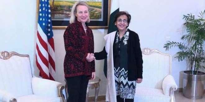 امریکی قائمقام وزیر خارجہ ایلس ویلز کی سیکرٹری خارجہ سے ملاقات ،ْ