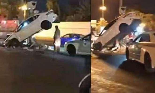 سعودی عرب میں خاتون ڈرائیور سے پہلا حادثہ