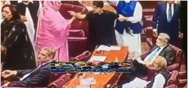 قومی اسمبلی میں لڑائی کیوں ہوئی،تحریک انصاف کے مراد سعید نے وجہ بتا ..