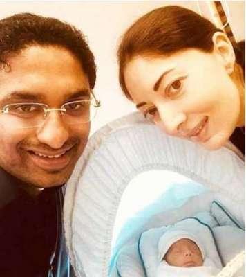 شرمیلا فاروقی نے بیٹے کی پہلی تصویر سوشل میڈیا پر جاری کردی