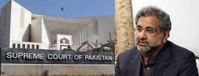 سپریم کورٹ کی جانب سے وزیرِ اعظم شاہد خاقان عباسی کو کوئی نوٹس موصول ..