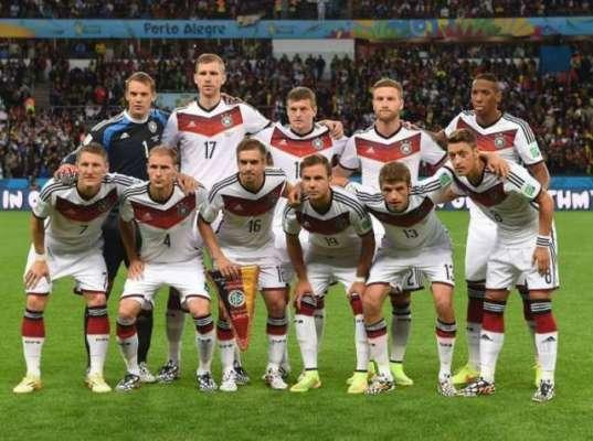 جرمنی کی ٹیم فیفا کی تازہ ترین عالمی درجہ بندی میں بدستور ٹاپ پوزیشن ..