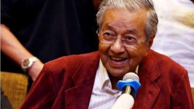 ملائیشیا کے نومتخب وزیر اعظم مہاتیر محمد 10 وزراء کے ساتھ حکومت چلائیں ..