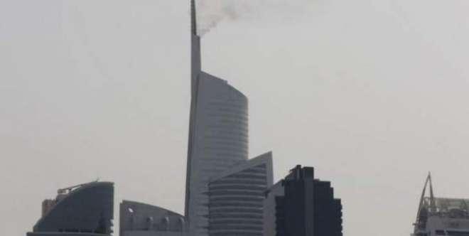 دبئی الماس ٹاور میں آتشزدگی