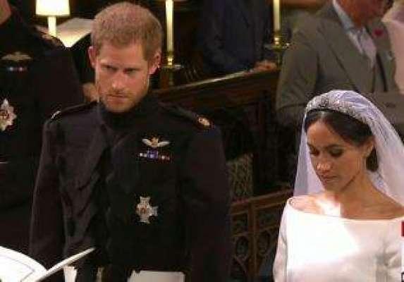 برطانوی شہزادے ہیری اور امریکی اداکارہ میگھن مارکل شادی کے بندھن میں ..