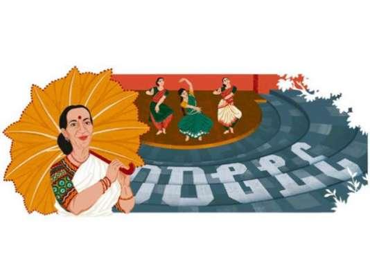 گوگل نے مرنالنی سارابائی کا ڈوڈل بناکر خراج عقیدت پیش کیا