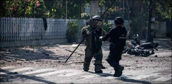 انڈونیشیا میں پولیس ہیڈکوارٹر پر بم حملے میں ایک شخص جاں بحق 10زخمی