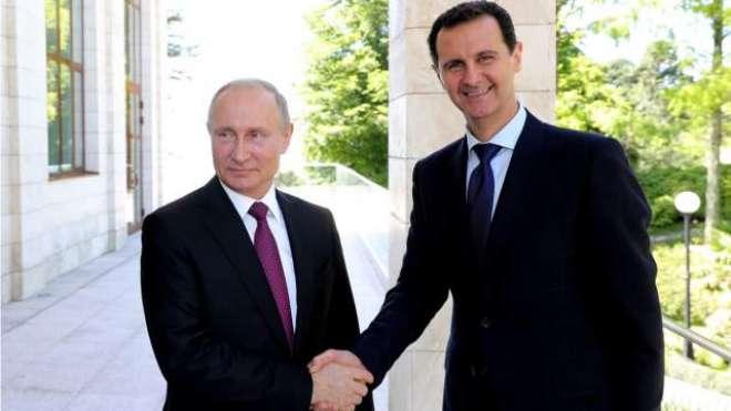 پیوٹن کی بشار الاسد سے غیر متوقع ملاقات