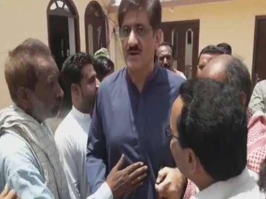 سابق وزیر اعلیٰ سندھ مراد علی شاہ کو حلقے میں جانے پر شرمندگی کا سامنا