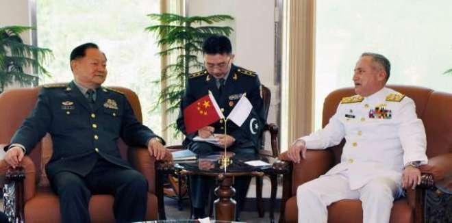 چینی سینٹرل ملٹری کمیشن کے وائس چیئرمین کی نیول چیف سے ملاقات،باہمی ..