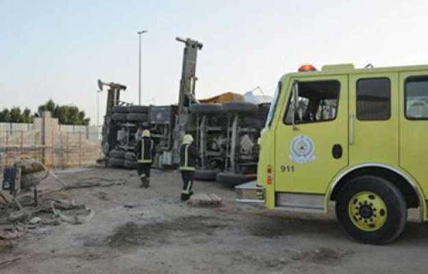 سعودی عرب ،  جدہ کرین حادثے میں دو مزدور زخمی