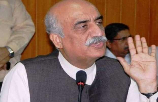 سید خورشید شاہ نے نگران وزیراعظم کے لیئے عوام سے نام مانگ لئے