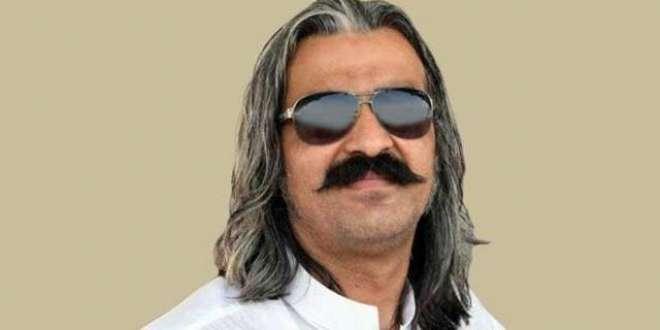وفاقی وزیر برائے امور کشمیر اور گلگت بلتستان علی امین خان گنڈ ا پور ..