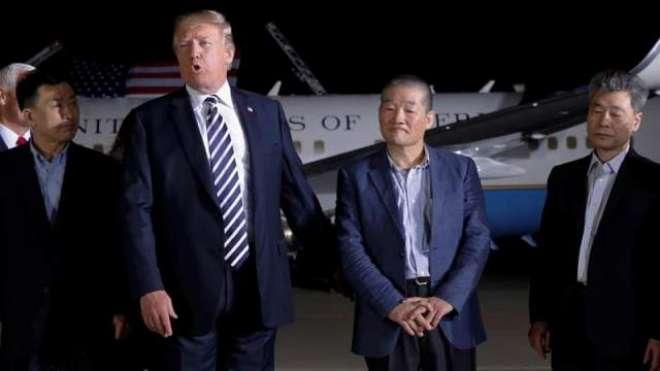 شمالی کوریا سے رہا امریکی فوجیوں سے ملاقات کا ہرکوئی مشتاق ہے،ٹرمپ