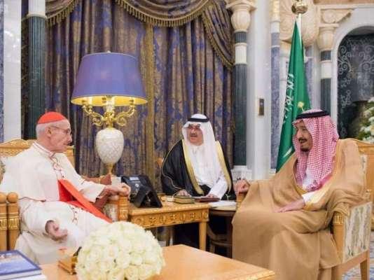 شاہ سلمان اور ویٹی کن کے عہدے دار کا دہشتگردی کو جڑ سے اکھاڑ پھینکنے ..