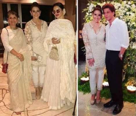 شاہ رخ خان، ریکھا اور دیگر فلمی شخصیات کی منیشا کوئرالہ کی سالگرہ میں ..