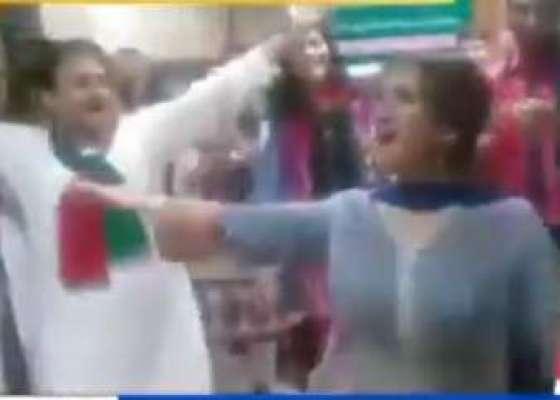 پیپلزیونٹی کا جشن، اسلام آبادایئرپورٹ کابریفنگ ہال ڈانسنگ کلب بن گیا