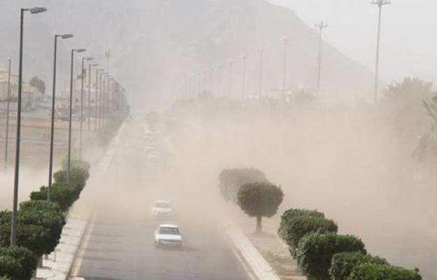 مدینہ منورہ میں گرد و غبار کے طوفان