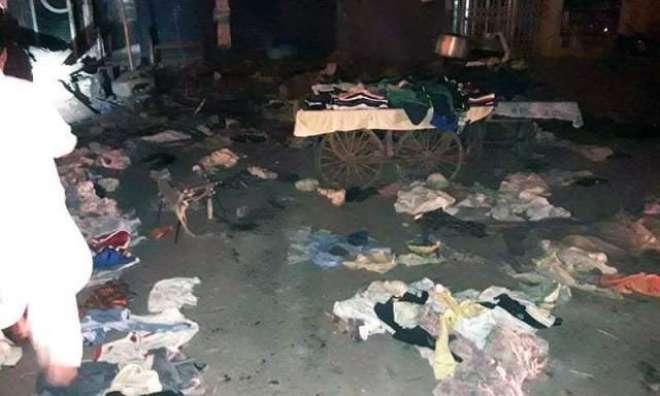 قائد آباد کے علاقے میں بم دھماکا کرنے والے دہشت گردوں کا بڑے پیمانے ..
