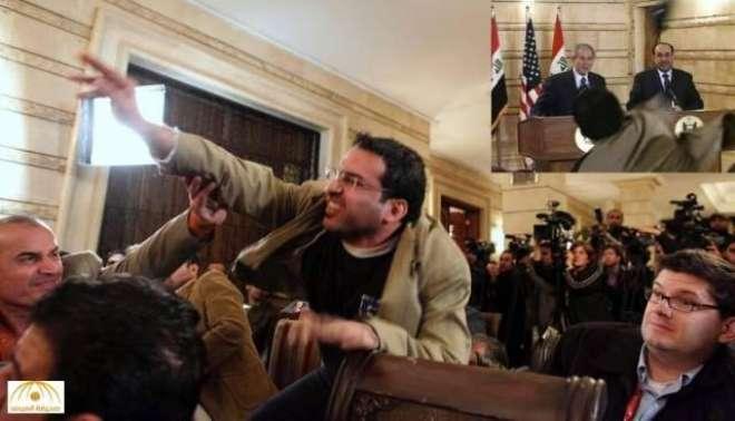 سابق امریکی صدر بش کو جوتا مارنے والے صحافی منتظر الزیدی کا عراق میں ..