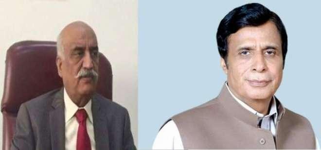 قومی اسمبلی میں قائد حزب اختلاف خورشید شاہ سے چوہدری پرویز الٰہی کی ..