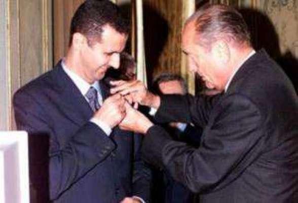 فرانس کا شام کے صدر بشار الاسد سے اپنا سِول اعزاز لیجن آف آنر واپس ..