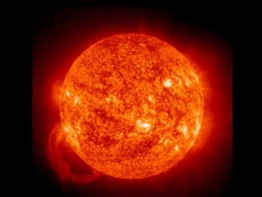 سورج میں سوراخ ہو گیا!