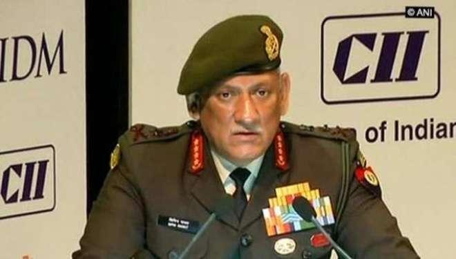 پاکستان کو تکلیف کا احساس دلانا ہماری پالیسی ہے، بھارتی آرمی چیف