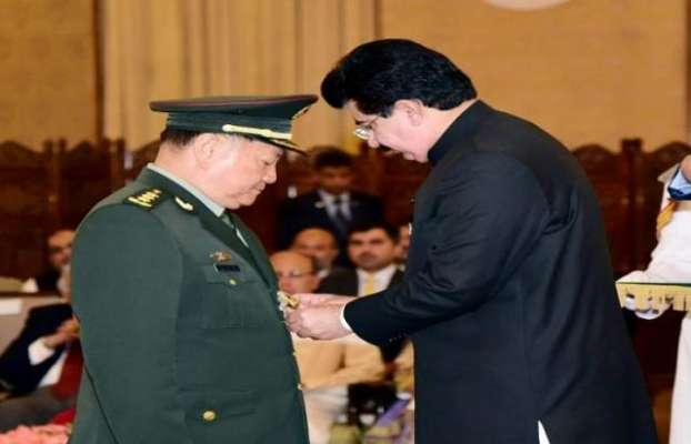 پاکستان نے چینی سینٹرل ملٹری کمیشن کو نشان امتیاز ملٹری عطاء کر دیا