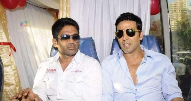 اکشے کمار اور سنیل شیٹھی فلم '' آوارہ پاگل دیوانہ '' کے سیکوئل میں ..