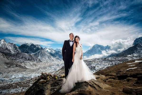 شادی  کی تقریب کے لیے منتخب کیے جانے والے 10 عجیب ترین مقامات