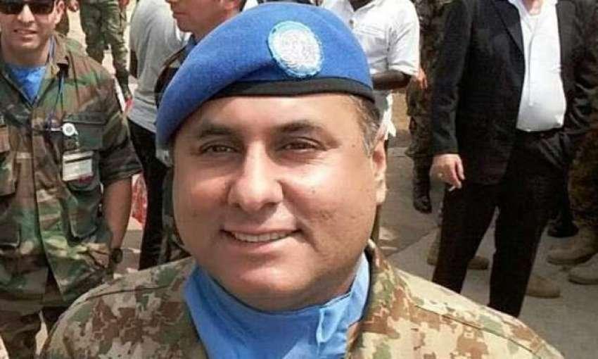 آئی ایس پی آر کی جانب سے جاری کردہ کرنل سہیل عابد شہید کی فائل فوٹو