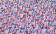 25 ہزار طلباء نے ایک ساتھ دانت صاف  کرنے کا عالمی ریکارڈ بنا لیا