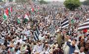 فضل الرحمان کے آزادی مارچ سے خطاب کے دوران 'پاک فوج زندہ باد' کے نعرے ..