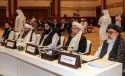 قطر میں بین الافغان مذاکرات میں طالبان اور افغان وفد کے درمیان ملک ..