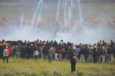 غزہ، ہفتہ وار مظاہرے، اسرائیلی فوج کی فائرنگ سے فلسطینی بچہ شہید ،41 ..