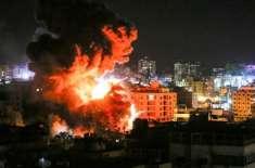 فائر بندی کے باوجود غزہ پٹی پر اسرائیل کی نئی بم باری،حماس کے ٹھکانے ..