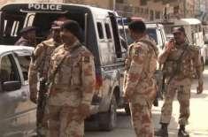 سندھ رینجرز اور پولیس کا غیر قانونی سکیورٹی گارڈز کے خلاف کریک ڈاؤ ..