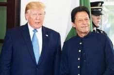 وزیراعظم عمران خان اور امریکی صدر ڈونلڈ ٹرمپ کی وائٹ ہائوس میں چہل ..