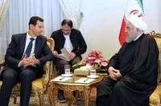 شامی صدر کا دورہ ایران،خامنہ ای اورروحانی سے ملاقاتوں میں اظہارتشکر