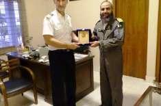 جرمن بحریہ کے P3C کے ایئر کرافٹ کا مہران نیول ایئر بیس کا دورہ