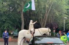 ICC World Cup 2019: Fan arrives on a horse at the India vs Pakistan match. Twitter dies laughing